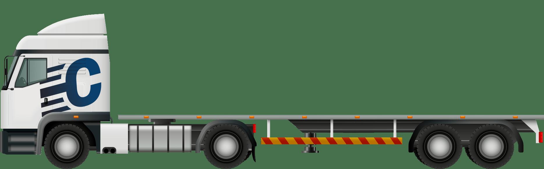 Camion semi-plateau
